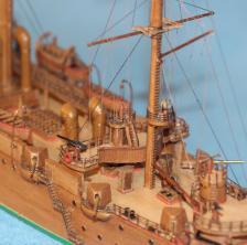 Модель корабля ручной работы - крейсер Аврора 43.