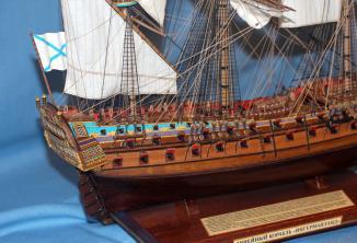Модель корабля ручной работы. Ингерманланд. Такелаж