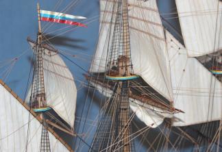 Готовая модель корабля Ингерманланд. Рангоут