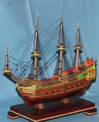 Вид модели корабля Орёл без реев.