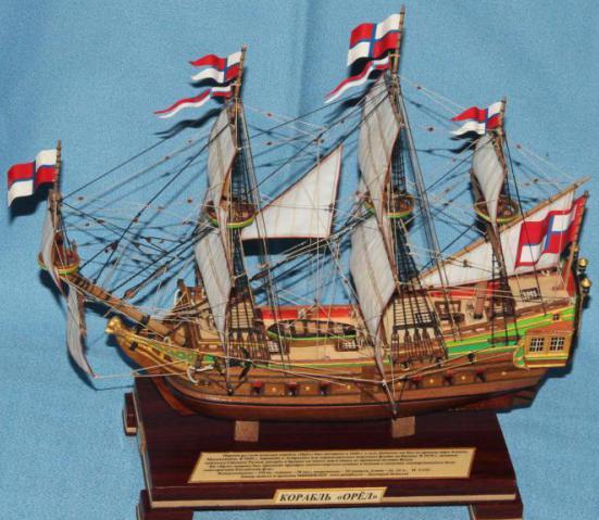 Модель военного корабля Орёл. вооружение