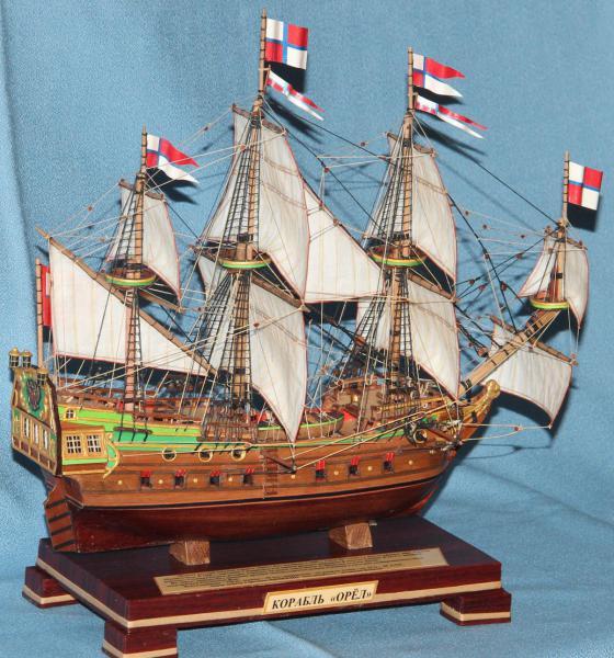 Модель военного корабля Орёл. Паруса