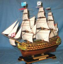 Модель линейного корабля Трёх Иерархов. Параметры.