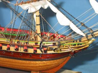 Днище модели фрегата Паллада