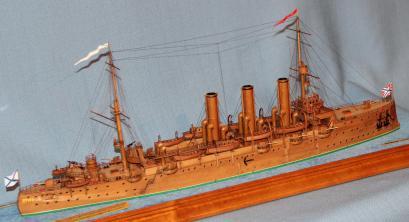 Авторская модель крейсера Аврора 20.