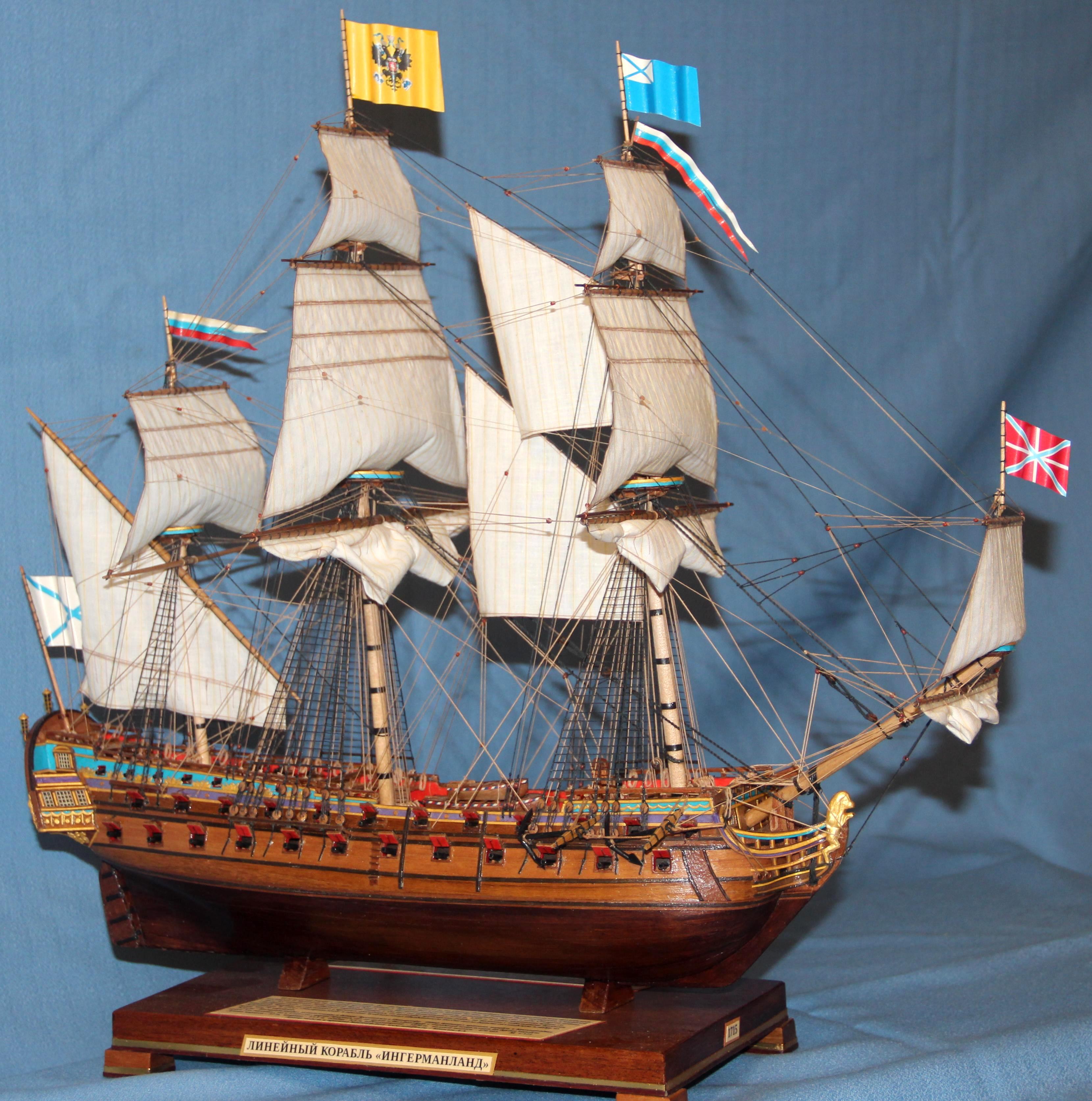 Модель корабля Ингерманланд, Постройка.