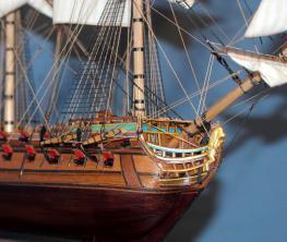 Модель корабля Ингерманланд. Конструкция.