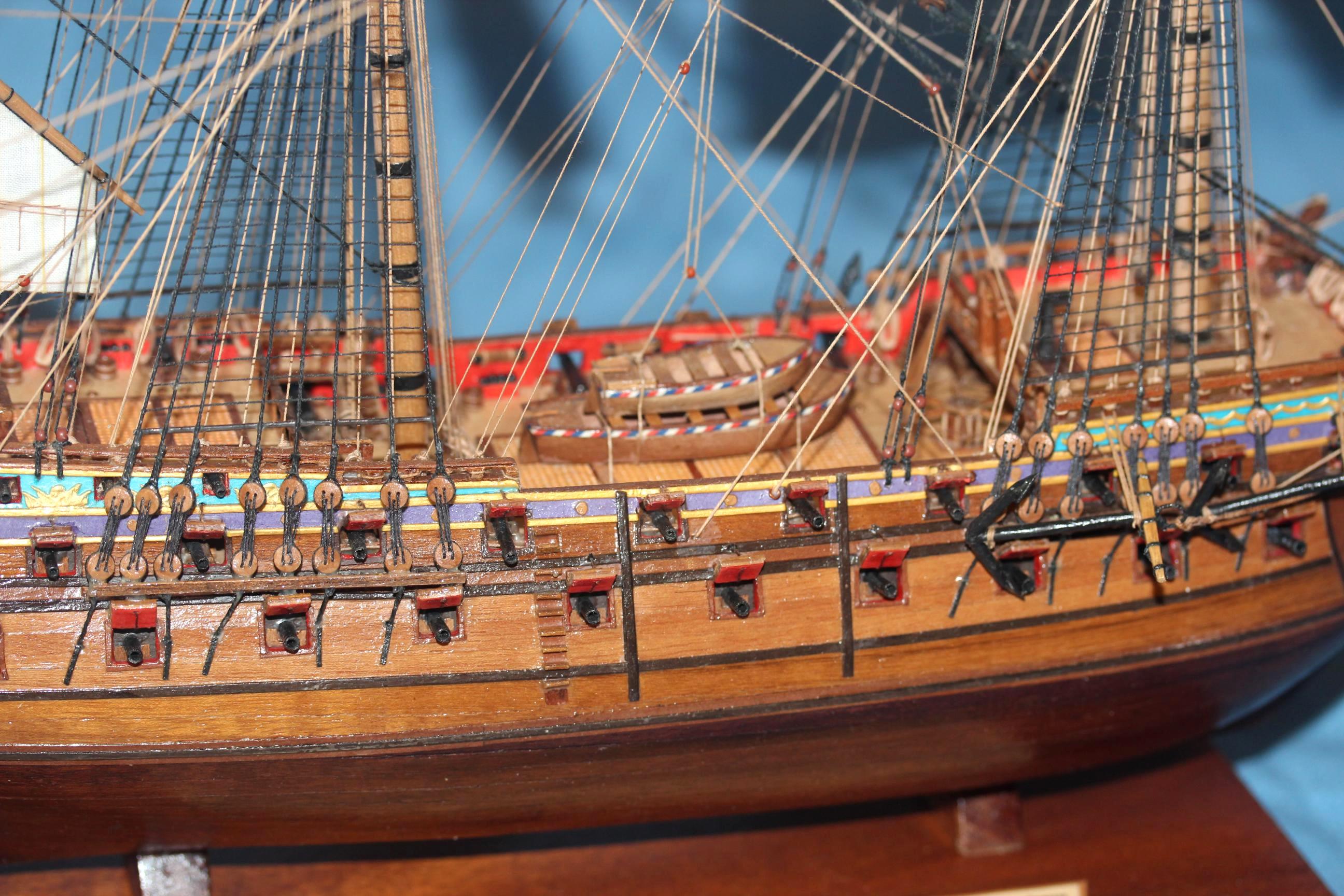 Модель линейного корабля Ингерманланд, Паруса.