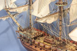 Фрагмент модели корабля Ингерманланд.