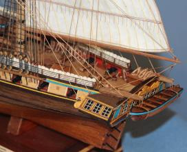 Модель корабля бриг Меркурий.