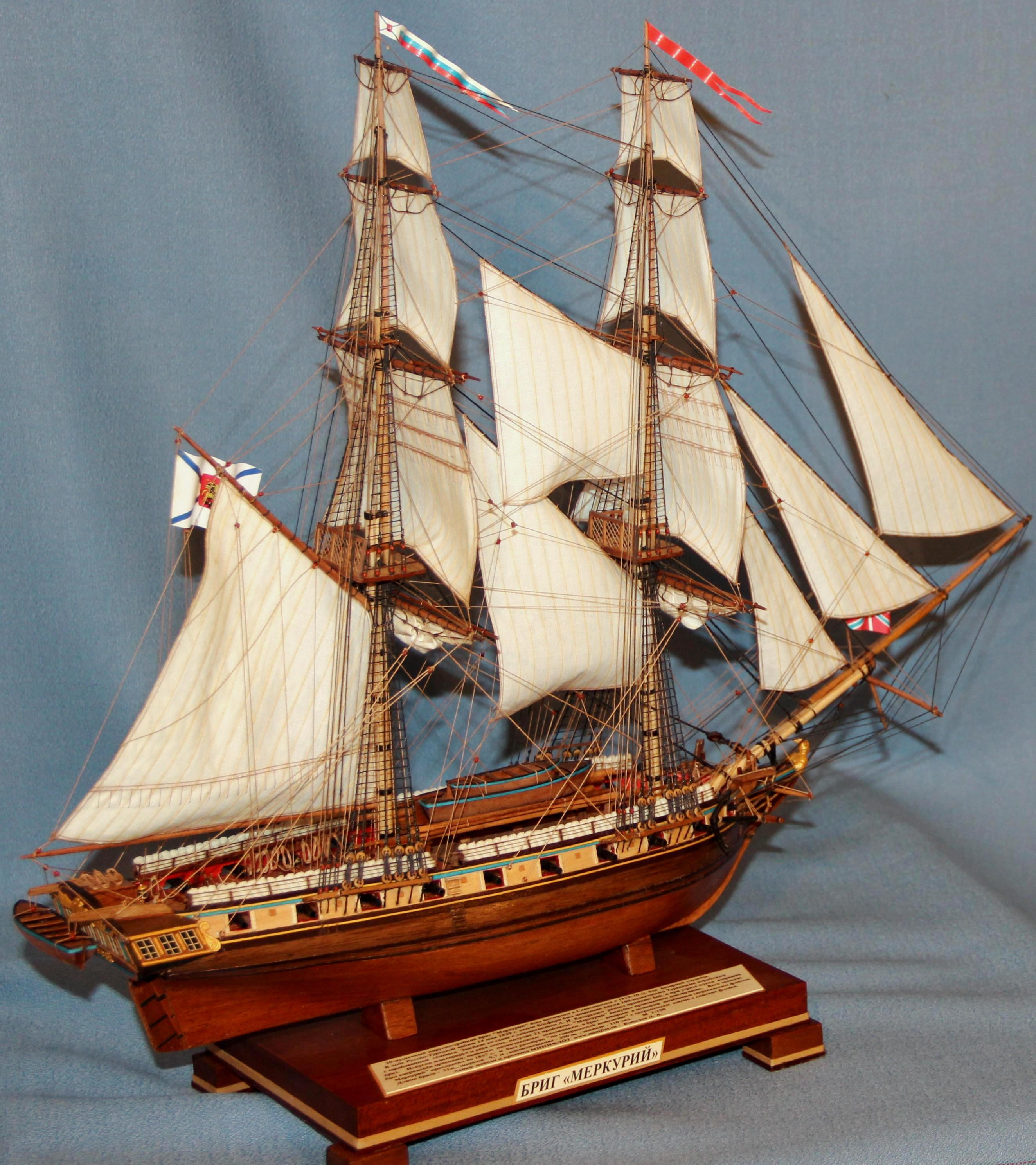 Модель корабля бриг Меркурий 1.