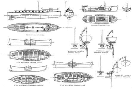 Чертёж модели крейсера Память Азова