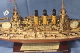 Спардек модели броненосца Ретвизан сверху.