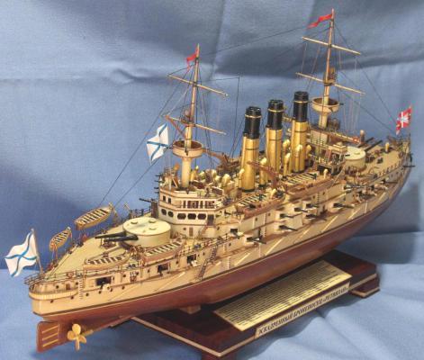 Модель корабля Броненосец Ретвизан, Вооружение.