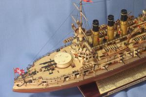 Модель корабля Ретвизан. Бак сверху.