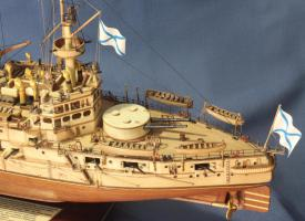 Модель корабля Ретвизан. Ют.
