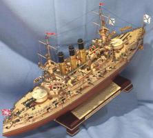 Модель корабля Броненосец Ретвизан.  Бронирование