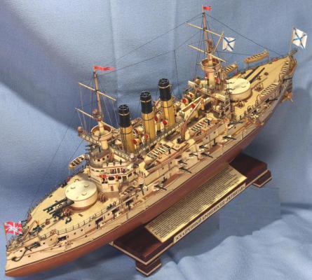Модель корабля броненосец Ретвизан. Броня.