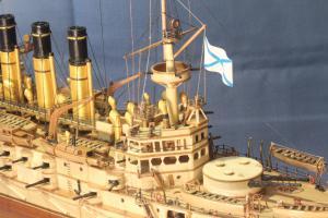 Задняя рубка модели корабля Ретвизан.