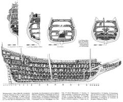 Чертёж корабля Vasa