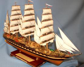 Модель корабля Крузенштерн. 3.