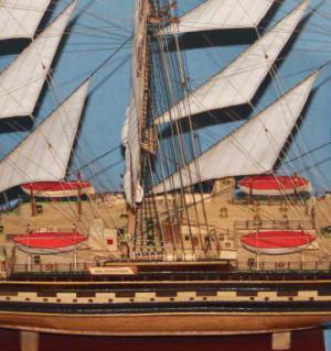 Модель барка Крузенштерн. Флаги.