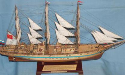 Модель корабля `Мир`. Спас. средства