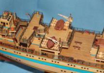 Модель корабля  `Мир`. Средний мостик.