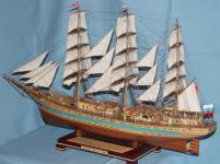Модель судна  `Мир`. Вид сзади слева.