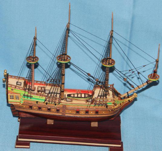 Модель военного корабля Орёл. Рангоут