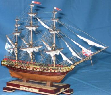 Модель фрегата Паллада. Параметры.