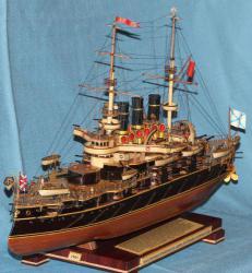 Модель военного корабля ЭБР Потёмкин. Носовая оконечность
