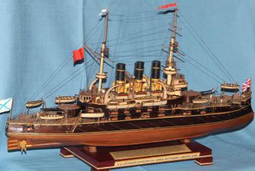 Модель корабля броненосец Потёмкин. Вооружение