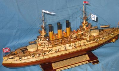 Модель броненосца Ретвизан
