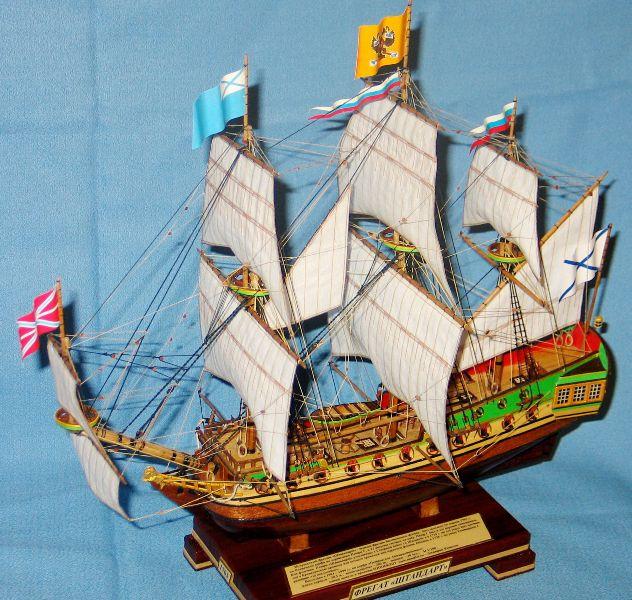 Модель корабля Фрегат Штандарт. Паруса.