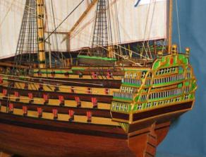 Модель корабля Трёх Иерархов. Экипаж.