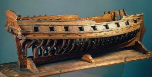 адмиралтейская модель корпуса парусника - шнявы Наталья
