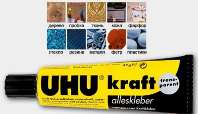 UHU для склейки деталей моделей кораблей