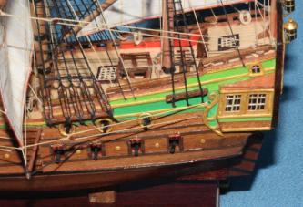 Корма модели корабля Орёл