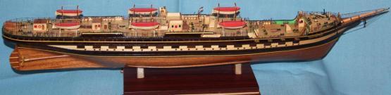Корпус модели барка Крузенштерн