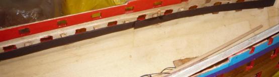 Стеночка внутри корпуса модели корабля
