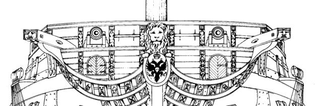 Тараная переборка на чертеже корабля