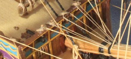 Тараная переборка модели парусника