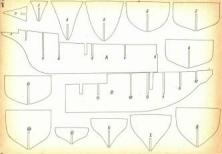 Проекция бок теоретического чертежа